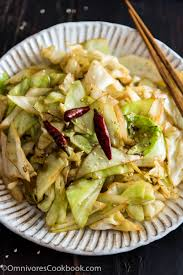 Chinese Main Dish Recipe - chinese 4 ingredient fried cabbage omnivore u0027s cookbook