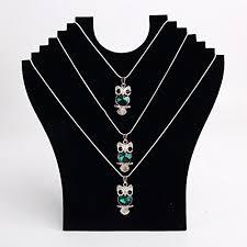 display holder necklace images Black necklace stand holder necklace pendant chain display jpg