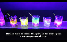 liquids that glow under black light drinks that glow under black lights
