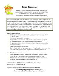Resume For Second Job 8 Summer Camp Counselor Resume Resume Another Word For Camp