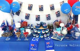 australian themed table decorations home theme ideas