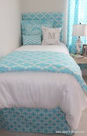 bedroom wonderful blue monogrammed bedding with chevron pillows