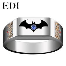 batman engagement rings edi customized mens batman wedding engagement ring unique 14k two