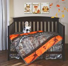 Camouflage Crib Bedding Sets Ap Blaze Orange Combo Camo 3 Pc Crib Set