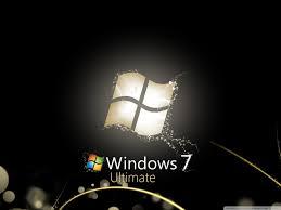 windows 7 ultimate bright black hd desktop wallpaper widescreen