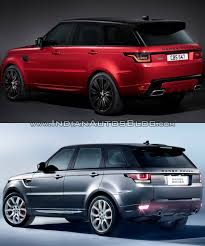jeep range rover 2018 2018 range rover sport vs 2014 range rover sport rear three