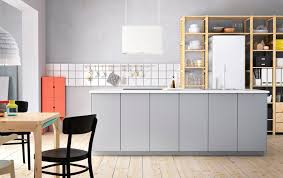 ikea kitchen ideas and inspiration mix grey white and wood for a free personal style