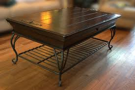 coffee table mesmerizing wood and iron coffee table ideas