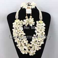 bridal beads necklace images 2017 fantastic nigerian african coral beads wedding jewelry set jpg