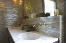 Bathroom Vanity Backsplash by Iridescent Bathroom Backsplash Design Ideas