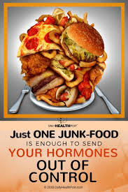 send food just one junk food snack is enough to send your hormones out of