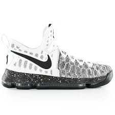k d nike kd 9 white black basketball shoe