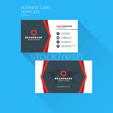 Flat Design Business Card Corporate Business Card Print Template Personal Visiting Card