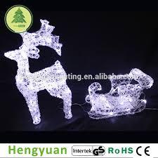 reindeer with sleigh led lights reindeer with sleigh
