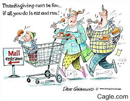new yorker thanksgiving cartoon thanksgiving and shopping