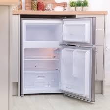 under cabinet fridge and freezer russell hobbs 90l under counter fridge freezer stainless steel