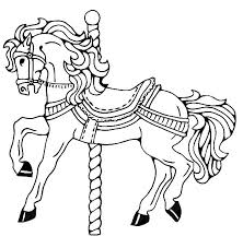 carousel horse coloring coloring