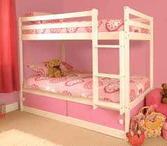 girls white beds girls slide storage white wooden bunk bed with pink sliding doors