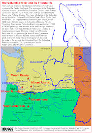 clark map the volcanoes of lewis and clark the columbia river and