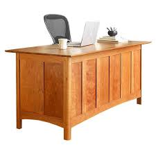 Executive Desk Solid Wood Shaker Executive Solid Wood Desk Real Cherry Maple Or Walnut