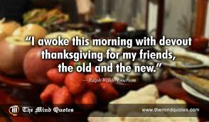 ralph waldo emerson quotes on thanksgiving and friendship