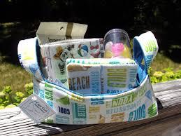 fabric basket fabric coasters gift basket beach theme nautical
