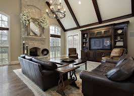Beautiful Living Room Decorating Ideas Pictures Designing Idea - Leather family room furniture