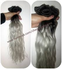 grey hair extensions 1b black silver grey hair extensions dip dye 8a remy ombre