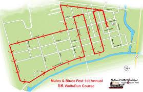 Map My Walk Route 5k Run Walk U2013 Mules U0026 Blues Fest