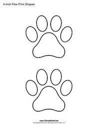 printable paw print templates free for personal arts and crafts