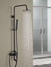 milo round style oil rubbed bronze shower faucet set single handle