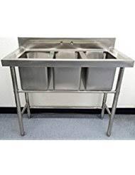 3 Bay Sink Faucet Amazon Com Commercial Restaurant Sinks Home U0026 Kitchen