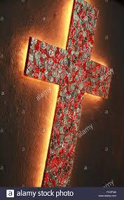 cross made of coke tins by errol sari international festival of