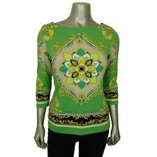green womens blouse charter s tops 3 4 sleeve sears