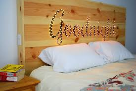 Unfinished Wood Headboards by Sweet Ombre Brown Unfinished Wood Homemade Headboard Ideas With