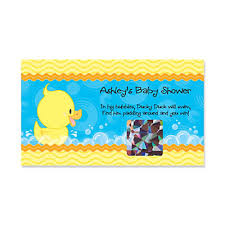 baby shower scratch ducky duck personalized baby shower scratch cards