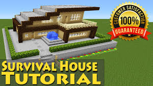 minecraft easy modern wooden survival house tutorial 1 how to