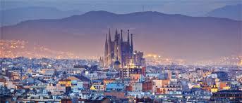 barcelona city view barcelona cultural metropolis at the mediterranean sea
