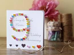 ninth anniversary gift 9th wedding anniversary card handmade personalised ninth