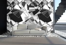 schwarz weiß wohnzimmer designtapeten in silber grau schwarz weiß