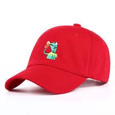 Meme Snapback - frog embroidery adjustable dad hat baseball cap snapback men hat