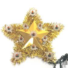 1900 11 gold tinsel unlit tree toppers for trees garden