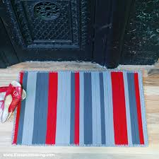 project giveaway wool binding kitchen rug for hand stitched