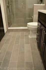 Ideas For Bathroom Floors Wide Plank Tile For Bathroom Great Grey Color Great Option If