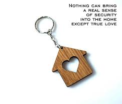 personalized wooden keychains wooden hearted home keychain personalized house keychain wood