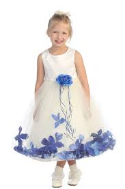 royal blue flower dresses