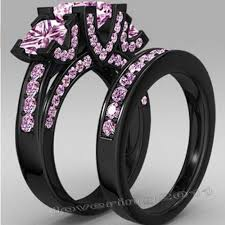 black and pink engagement rings online get cheap pink black ring set aliexpress alibaba