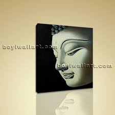 Abstract Home Decor Feng Shui Painting Abstract Buddha Head Peaceful Home Decor Wall