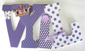 amazon com purple custom wooden letters lavender baby