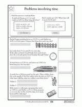 4th grade math worksheets elapsed time greatschools